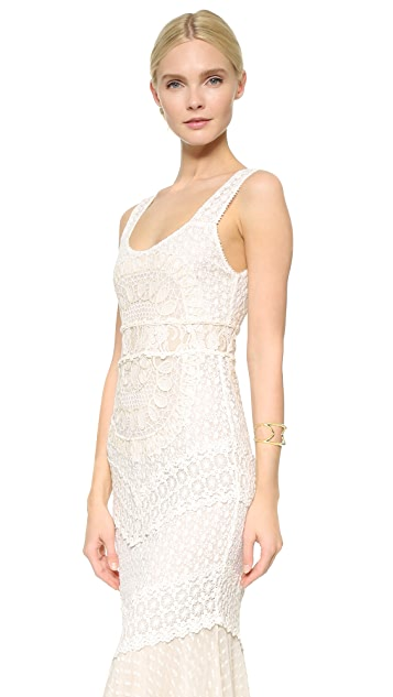 alice + olivia Kimberley Embroidered Gown