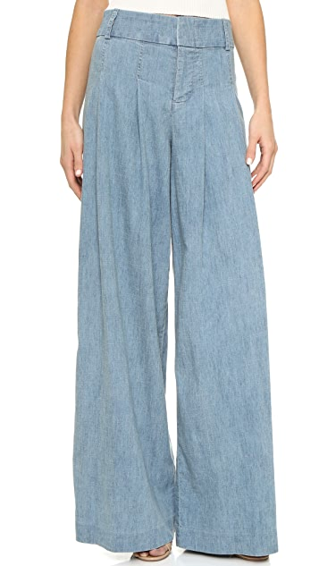 alice + olivia Scarlet Darted Wide Leg Pants
