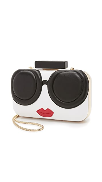 alice + olivia Large Stacey Face Clutch