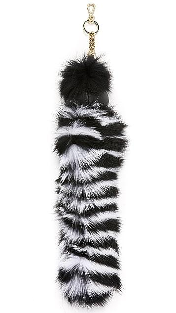 alice + olivia Stacey Fur Keychain