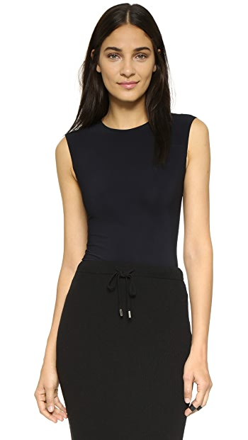 Alix Lenox Skin Thong Bodysuit - Black