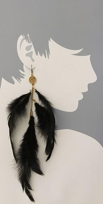 Alkemie Jewelry Single Om Feather Earring