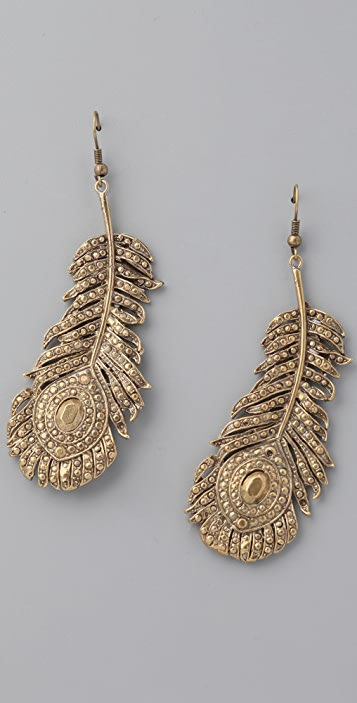 Alkemie Jewelry Peacock Feather Earrings