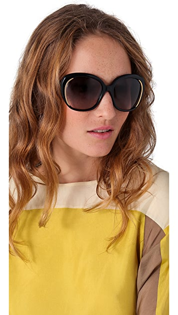 Alexander McQueen Oversized Round Sunglasses