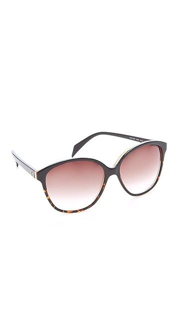 Alexander McQueen Oversized Glam Cat Eye Sunglasses