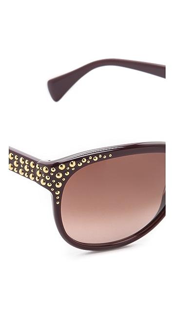 Alexander McQueen Oversized Studded Sunglasses