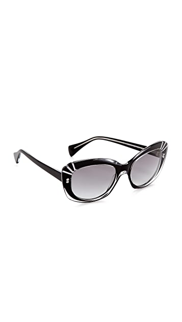 Alexander McQueen Statement Cat Eye Sunglasses
