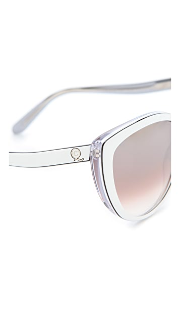 Alexander McQueen Oversized Cat Eye Sunglasses