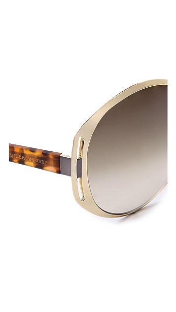 Alexander McQueen Oval Sunglasses