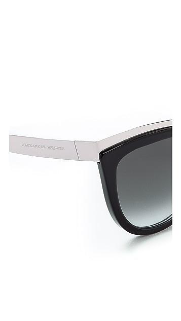Alexander McQueen Солнцезащитные очки «кошачий глаз»