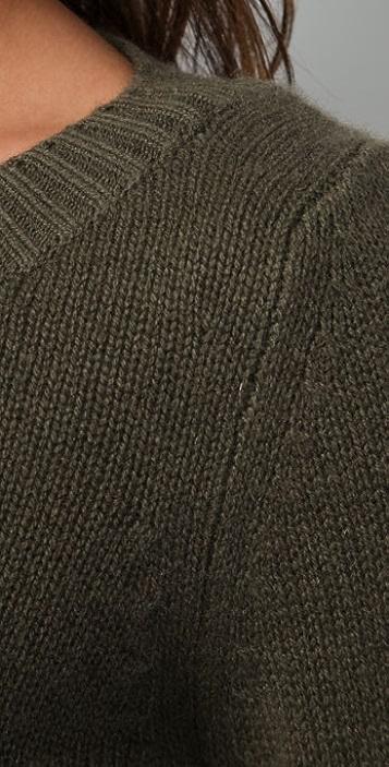 Ami Dans La Rue Cashmere Cropped Sweater