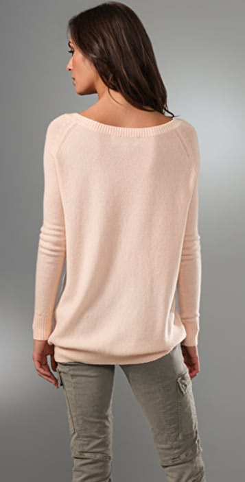 Ami Dans La Rue Cashmere Wide Neck Sweater