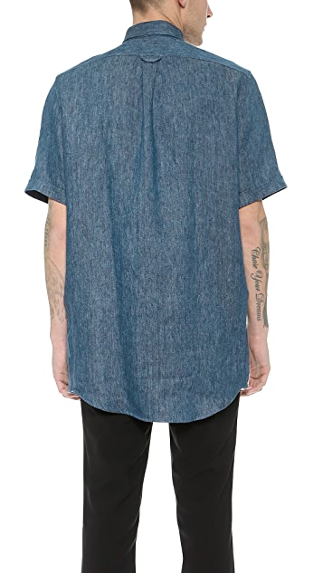 AMI Oversized Linen Shirt