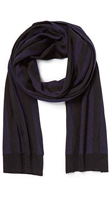 AMI Striped Scarf