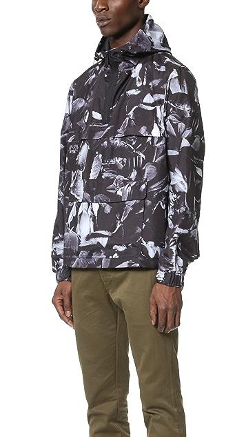 AMI Hooded Half Zip Jacket