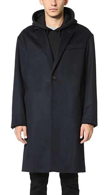 AMI 2 Button Oversized Coat