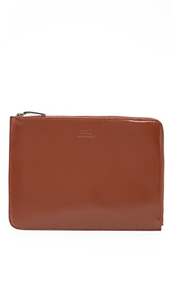 AMI Cognac Small Zip Pouch