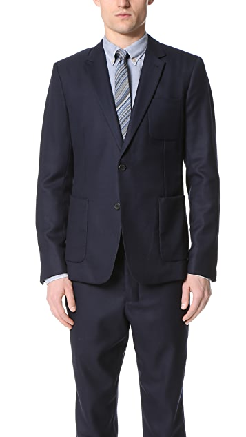 AMI Half Lined 2 Button Jacket