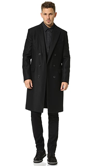 AMI Classic Double Breasted Coat