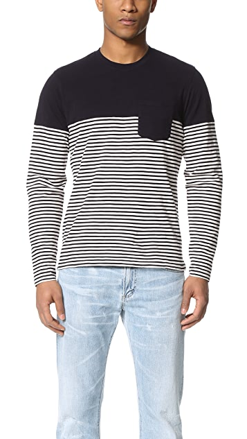 Alex Mill Combo Stripe Long Sleeve Tee
