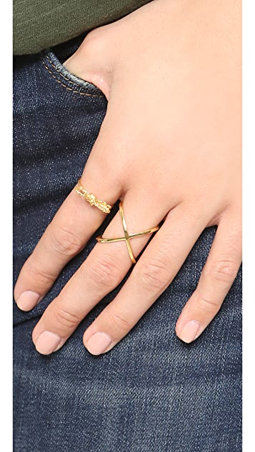 Alex Monroe Looped String Bow Ring SHOPBOP