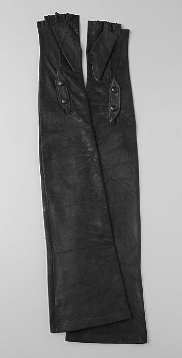 American Retro Corina Fingerless Leather Gloves