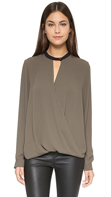 And B Signature Long Sleeve Blouse