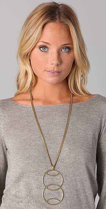 Anndra Neen Double Venus Pendant Necklace