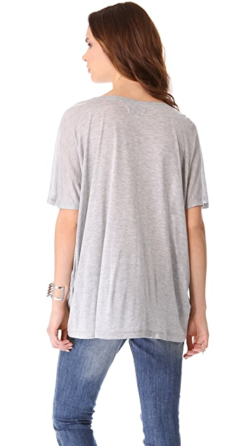ANINE BING Scoop Neck Tee
