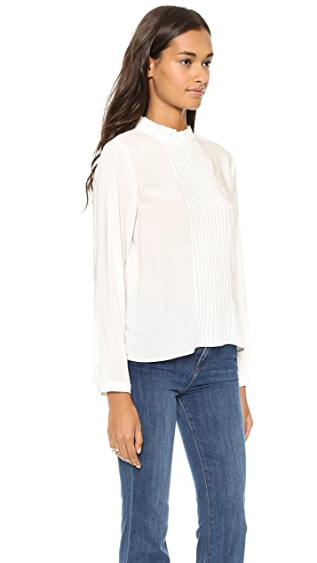 ANINE BING Ivory Blouse