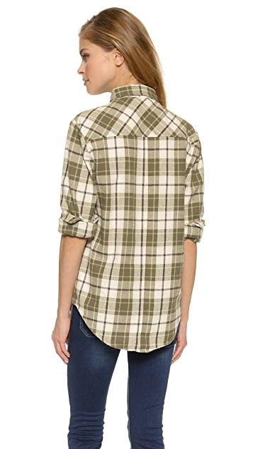 ANINE BING Plaid Shirt