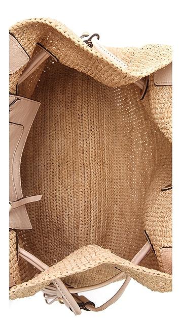 Annabel Ingall Romane Drawstring Raffia Bag