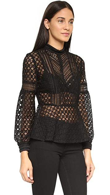 Anna Sui Aries Combo Lace Blouse