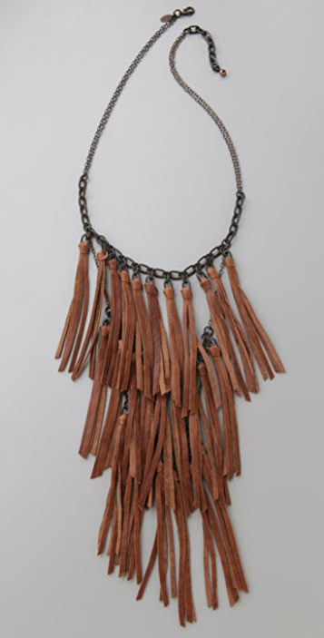 ACB by Annie Costello Brown Fringe Necklace
