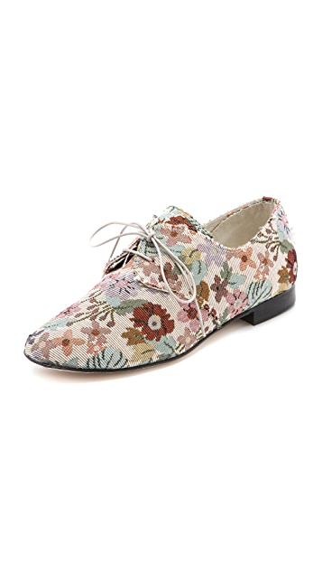 Anniel Floral Print Oxfords