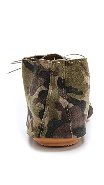 Anniel Camo Soft Lace Up Booties