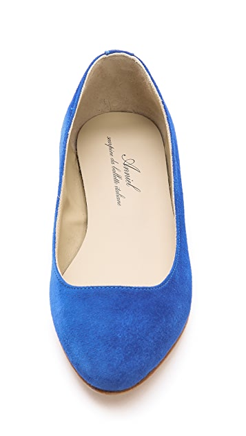 Anniel Suede Pointed Toe Flats