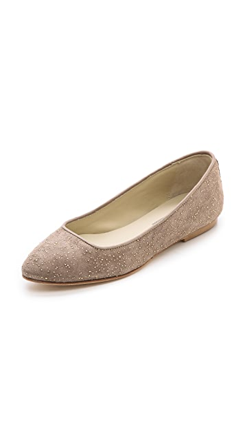 Anniel Metallic Flecked Pointy Toe Flats