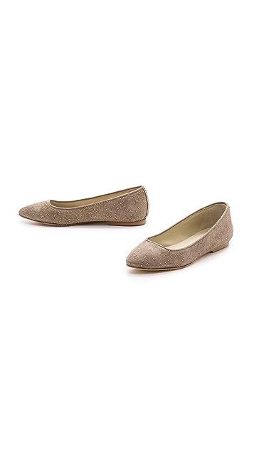 Anniel Metallic Flecked Pointy Toe Flats