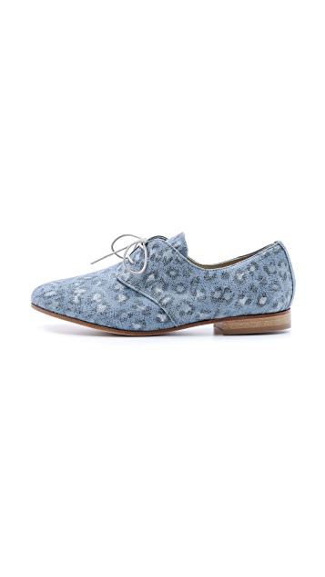 Anniel Special Leopard Derby Oxfords