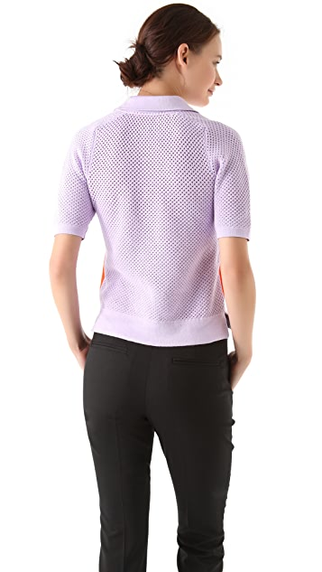 Antipodium Sporting Chance Perforated Polo Shirt