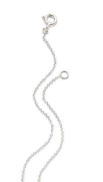 Antipodium Double Digits Pendant Necklace