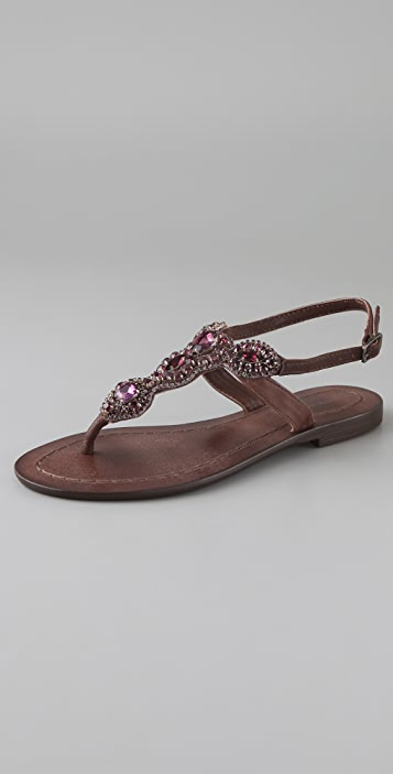 Antik Batik Akan Stone Flat Thong Sandals