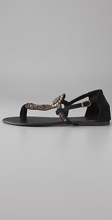 Antik Batik Kiss Suede Flat Sandals