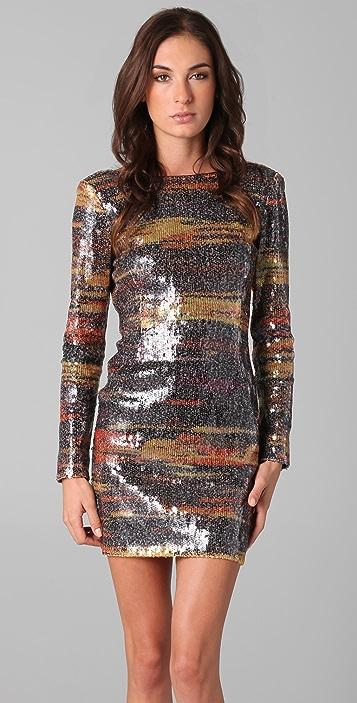 Antik Batik Magenta Sequin Dress with Low Back