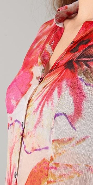 Antik Batik Hibisca Print Blouse