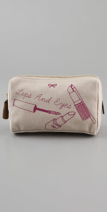 Anya Hindmarch Lips & Eyes Cosmetic Case