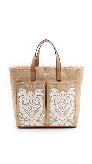 Anya Hindmarch Nevis Tote with Raffia