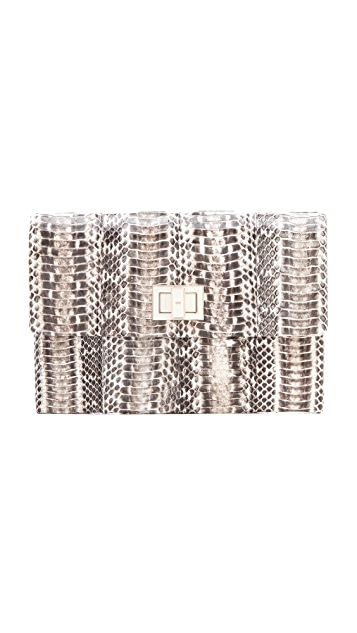 Anya Hindmarch Valorie Snake Clutch
