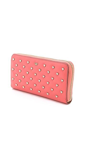 Anya Hindmarch Studded Heart Joss Wallet